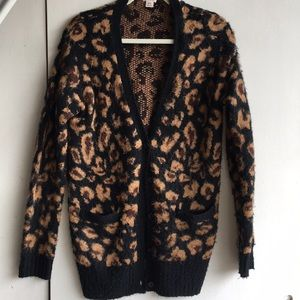 MOSSIMO ANIMAL PRINT CARDIGAN